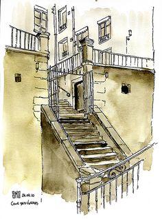 Cour des Voraces, Lyon - France by bruno molliere, via Flickr