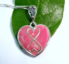Large Infinite Hearts Pendant / Made With Your by myflowersforever