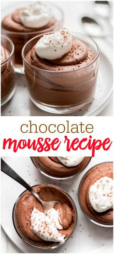 chocolate dessert recipes Chocolate Mousse is a sophisticated ultra smooth and creamy dessert that is perfect for serving at a dinner party. This chocolate dessert is sure to Mousse Dessert, Smores Dessert, Appetizer Dessert, Dessert Food, Mousse Cake, Keto Desserts, Chocolate Desserts, Easy Desserts, Delicious Desserts
