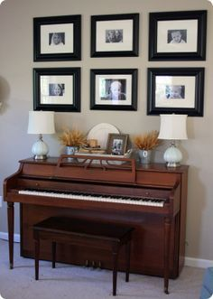 Image result for how to decorate around a upright piano