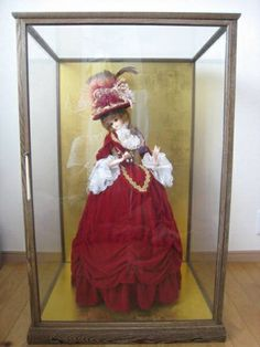 Glass Case 【アンティーク】フランス人形ガラスケース入り インテリア 雑貨 家具 Antique ¥5000yen 〆06月18日