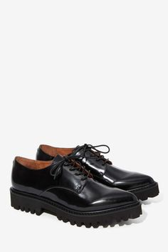 Jeffrey Campbell Seymour Leather Oxford Shoe - Oxfords   Jeffrey Campbell