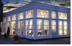 Quorn Hotel's Elegant Orangery Dining Room (Leicestershire, England) by Town & Country Conservatories