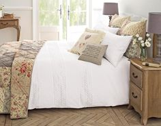 Buy White Leaf Schiffli Bed Set from the Next UK online shop