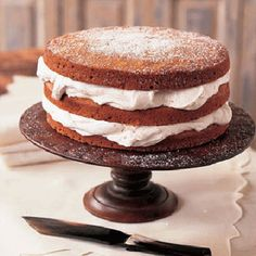 Stacked Applesauce Cake with Cinnamon Whipped Cream from @Elizabeth Cassinos Living Magazine
