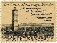 Terschelling Vintage Travel Posters, Vintage World Maps, Interesting Buildings, My Happy Place, Old World, Netherlands, Places To Visit, Island, History