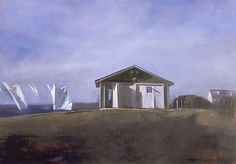 Randall Exon Sheets and Garage, 2006 Oil on canvas, 24 x 34 in.