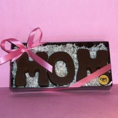 Chocolate Mom  Price:  US$19.99  A great treat for a well-deserved MomChocolate Mom Gift Baby New Mom Mother's Day Candy Letters I love you Mom You're The Best
