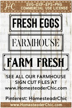Farmhouse Sign Cut Files--lots of options in multiple style s. Cut files in SVG DXF EPS PNG for personal or commercial use. Farmhouse style, farm animals, western decor, wildlife, holiday designs. Use for vinyl, paper, fabric, painting stencils, and more to decorate your home, make a gift, or add to your shop inventory. Come see us at www.HomesteaderChic.com for instant downloads so you can get right to creating!