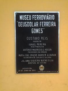 Museu Ferroviário Deusdolar Ferreira Gomes em Jaguariúna.
