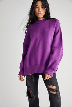 Easy Street Tunic | Free People Free People Store, Mock Neck, Pullover Sweaters, What To Wear, Tunic, Turtle Neck, Bell Sleeve Top, Sleeves, Shopping