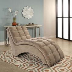 Save $300 on this chaise lounge! Sam's Club has a deal on theAlexis fabric chaise for $199.51, a savings of $299.49! This lounge chair is made of solid hardwood with Champagne Beige polyeste…