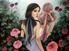 """Spoke Art, San Francisco, is hosting an exhibition by Kelsey Beckett titled """"Brides of Summer. Portrait Inspiration, Character Inspiration, Character Art, Character Design, Watercolor Illustration, Digital Illustration, Kelsey Beckett, Spoke Art, Dark Photography"""