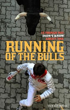 the bulls run every day of the fiesta there's no safe place on the course and that at least someone tries to run nude every year? Find out 9 other fun facts here: San Fermin Pamplona, Pamplona Spain, Bull Painting, Running Of The Bulls, Spanish Culture, Spain And Portugal, News Media, Spain Travel, Pilgrimage