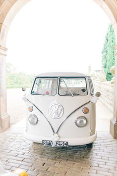 White VW Camper Van | Photography by http://sarahjaneethan.co.uk/