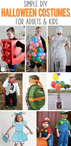 Making your own costumes? Check out these easy, fun ideas :-)