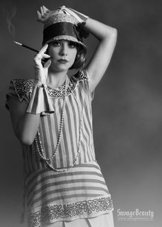 "1920's was a dramatic time in the fashion industry. Women were becoming more and more independent: they could give the right to vote, smoke or drink. They were giddy and took risks. Then, the famous and controversial ""flapper"" dress was invented."