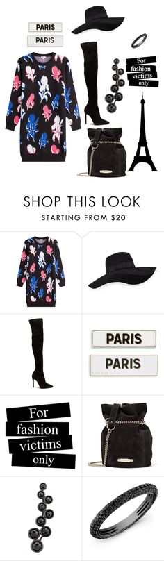 """flower winter"" by marifimarina ❤ liked on Polyvore featuring Kenzo, San Diego Hat Co., Rosanna, Lanvin, Alinka and Anne Sisteron"