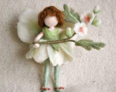 Flower Fairy Waldorf inspirierte Nadel Gefilzte Puppe: kann Fairy