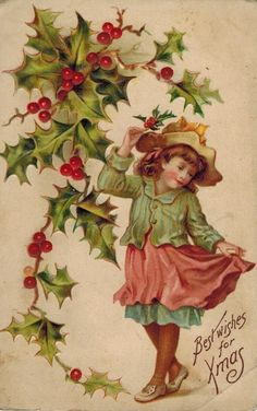 Old Christmas Post Сards —    Christmas Best Wishes,  1909 (627x1000)