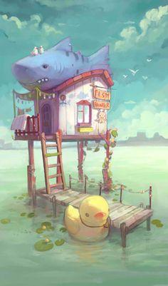Home , Elena Ilicheva on ArtStation at https://www.artstation.com/artwork/home-bf25e736-e2d3-4b4b-ad7c-2577cc4f1882