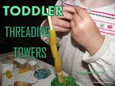 An easy fine motor activity for even younger toddlers...easy to modify with materials you have around the house!