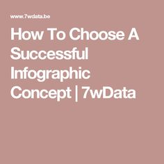 How To Choose A Successful Infographic Concept   7wData