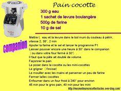 Recette Pain cocotte au companion moulinex