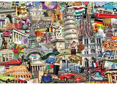 Best of Europe (40 pc. Wentworth Wooden Micro Puzzle)