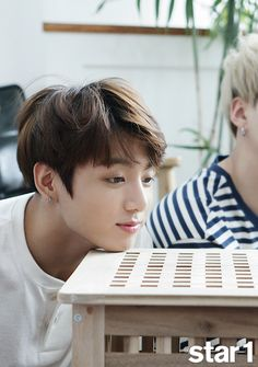 JUNGKOOK - maknae, lead vocals, good at everything, hard working, listens to his hyungs