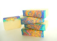 Clearance 3 bars Supernova Cold Process Soap by SilverFirsFarm