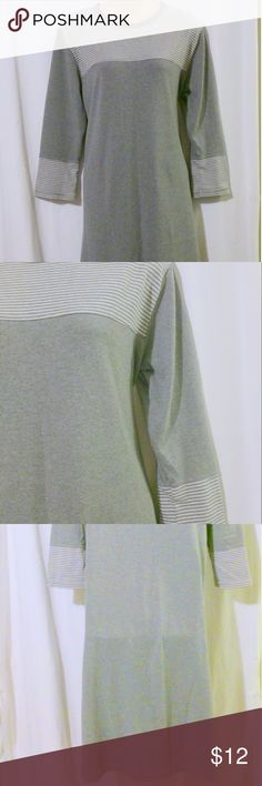 "S Mile Gray Knit Dress This knit dress is made by S Mile and is a size large. The dress has no material tag but feels like a cotton or cotton blend. Measurements are: Bust 44"", waist 46"", hips 50"", length 44"". In beautiful condition! S Mile Dresses Midi"