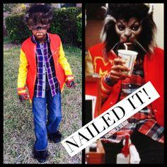 DIY Halloween Thriller Werewolf or Teen Wolf costume for kids. Werewolf Costume Kids, Teen Wolf Costume, Diy Halloween Costumes For Kids, Halloween Inspo, Family Halloween, Halloween 2018, Halloween Stuff, Halloween Party, Girl Costumes