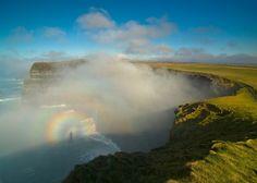 A rainbow near the Cliffs of Moher on the Atlantic coast.