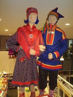 Traditional Sami clothing exhibition, Saariselkä, Finland.  Cabins and activities in Saariselkä http://www.saariselka.com