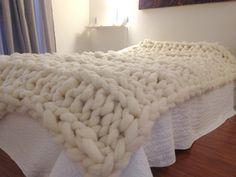 Chunky Knit Blanket... wool