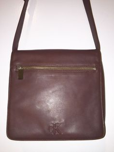 Calvin Klein CK Dark Brown Faux Leather Small Purse Adjustable Shoulder Bag-Mint #CalvinKleinCK #ShoulderBagPurse