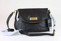 d132703fb0c4 MARC JACOBS Black Leather New Q Natasha Medium Crossbody Bag  MARCJACOBS   Crossbody  designerhandbag  discountdesigner