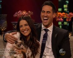 So cute: Andi and Josh got to cuddle Grumpy Cat on the after show, where they chatted about their relationship.
