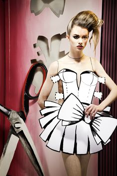Paper doll shoot - Kevin Mason with md. Georgina Bevan
