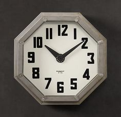 Reproduction 1940's American Garment Shop Clock from Restoration Hardware