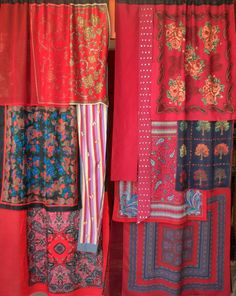 """""""Piccadilly Circus"""" gypsy curtains handmade by Babylon Sisters. Scarf Curtains, Gypsy Curtains, Diy Curtains, Gypsy Decor, Bohemian Decor, Gypsy Home, Piccadilly Circus, Curtain Designs, Curtain Ideas"""