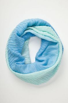 textured ombre loop scarf / anthropologie