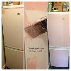 using annie sloan chalk paint to paint fridge freezer.....WHAT?!?!?! i'm so doing this!