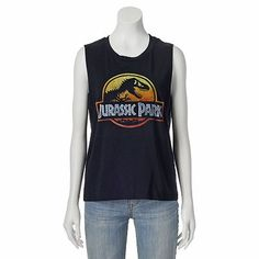 Fifth Sun ''Jurassic Park'' Muscle Tee - Juniors