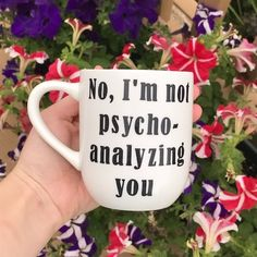 f332509d Psychoanalyzing Mug | Vinyl Mug | Psychology Gift | School Psychologist |  Psych Major Mug | Psychology Professor Gift | Counselor Gifts