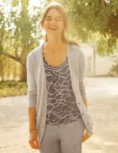 Boden Boyfriend Cardigan and Tank