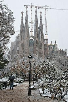 Cuando vivi allí nunca lo vi nevado, Snowing in Barcelona ❄
