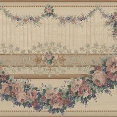 Bronze Floral Veranda Swag - Brewster Wallpaper Borders - 451-1611