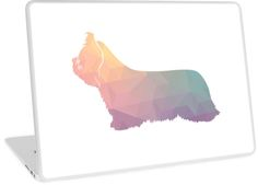 Skye Terrier Dog Colorful Geometric Silhouette by TriPodDogDesign